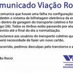 Comunicado Viação Rocio
