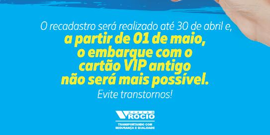ULTIMA CHAMADA RECADASTRO CARTÃO VIP!