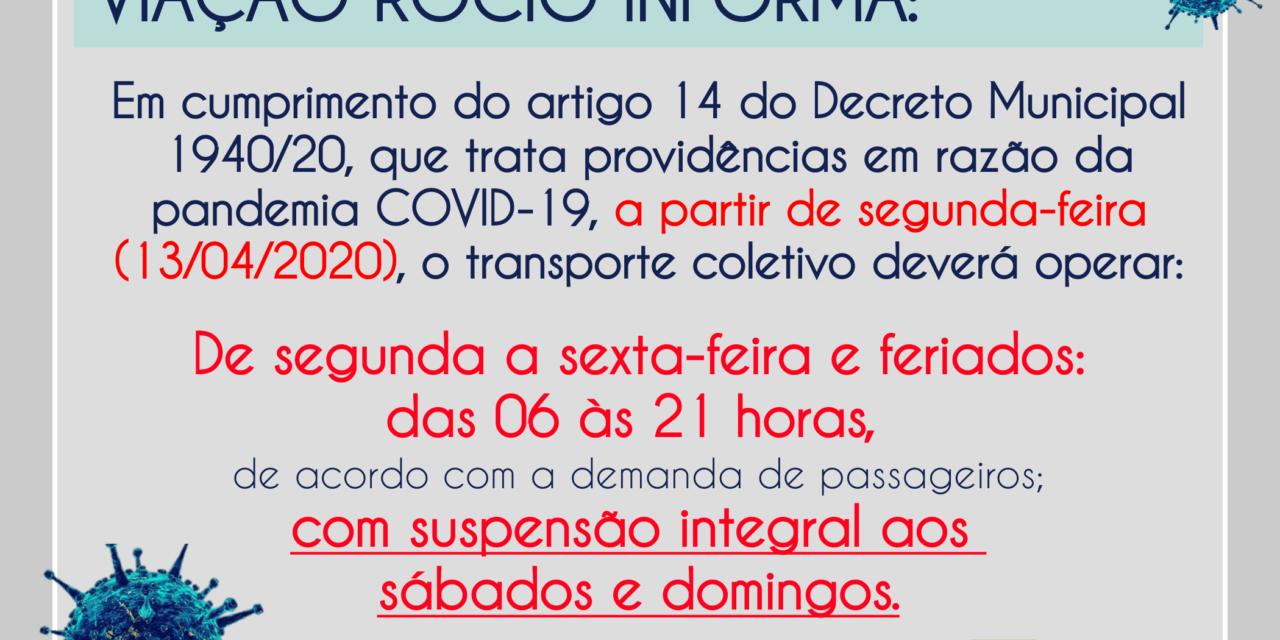 HORARIOS DOS COLETIVOS A PARTIR DE 13/04